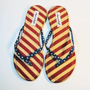 American Eagle Stars n' Stripes Flip Flops (NWT)